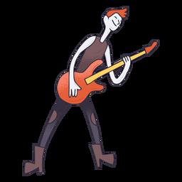 Dibujos animados de guitarrista eléctrico