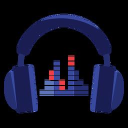 Ícone de fones de ouvido equalizador
