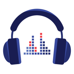 Icono de ecualizador de auriculares