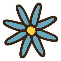 Doodle colorido de flor