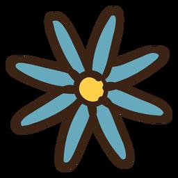 Doodle de color de la flor