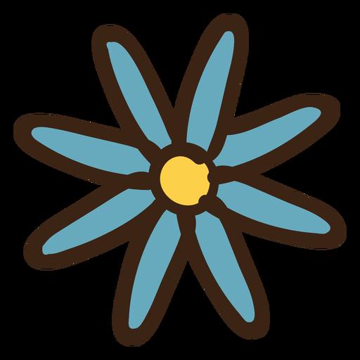 Doodle colorido de flor Transparent PNG