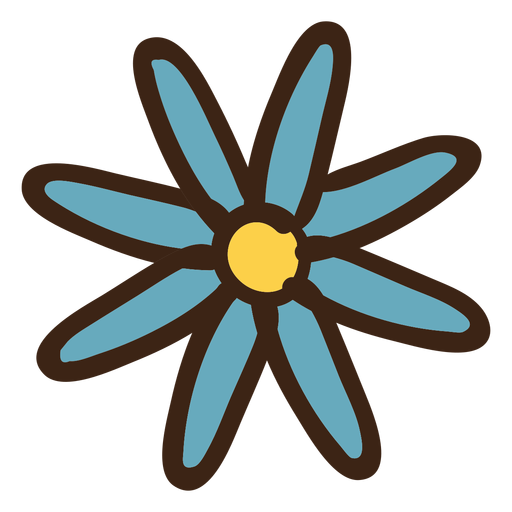 Flower colored doodle Transparent PNG