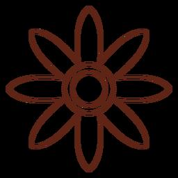 Elemento de trazo hippie de flor