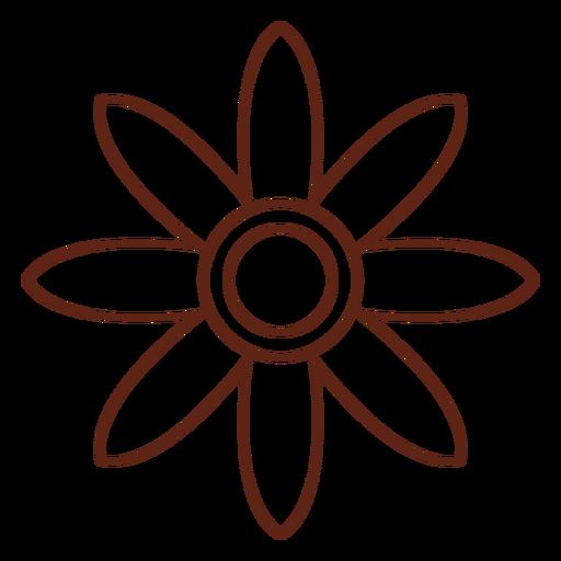 Elemento de trazo hippie flor Transparent PNG