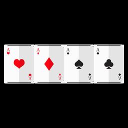 Icono de tarjetas de cuatro ases