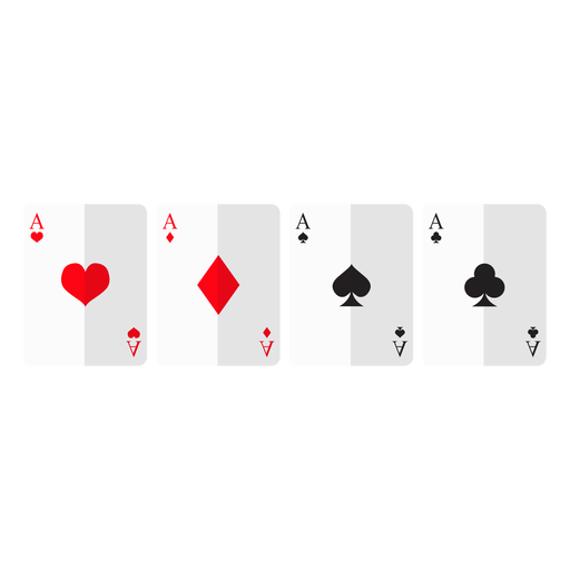 Four aces cards icon Transparent PNG