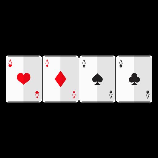 Icono de cuatro cartas de ases Transparent PNG