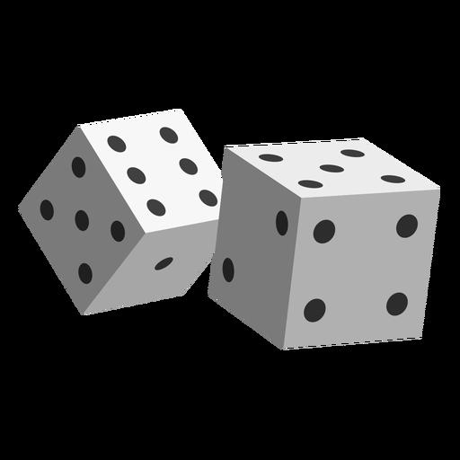 Icono de dados de juego Transparent PNG