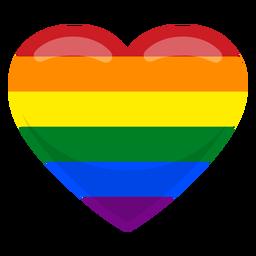 Bandeira do coração gay