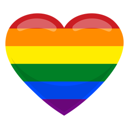 Gay heart flag