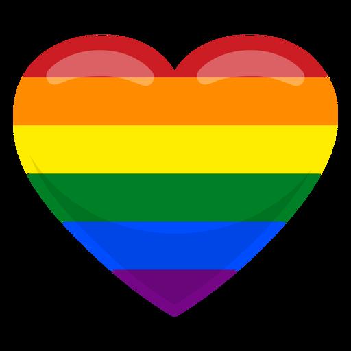 Bandera del corazon gay Transparent PNG