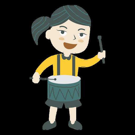 Girl playing drum