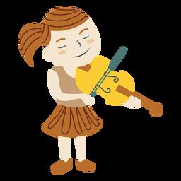 Mädchen, das Violine spielt