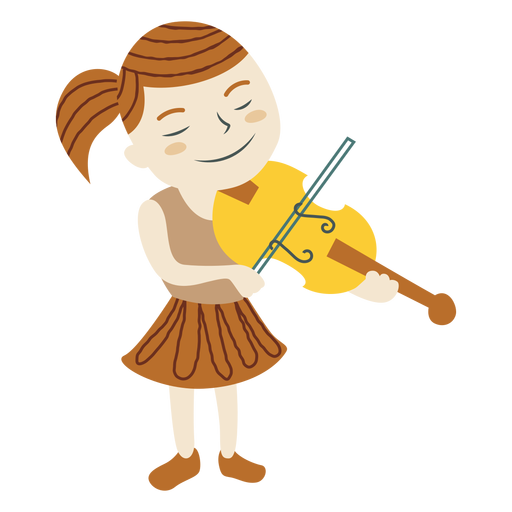 Girl playing violin Transparent PNG