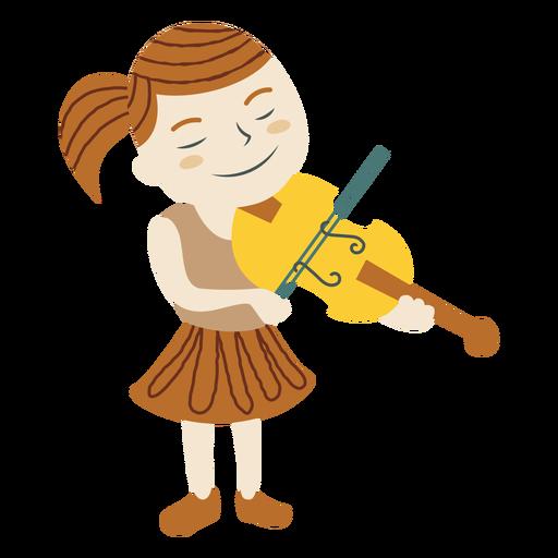 Niña tocar violín