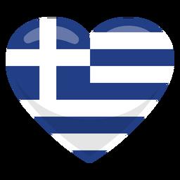 Bandera del corazon de grecia