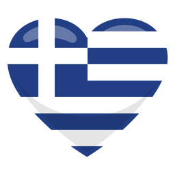 Greece heart flag