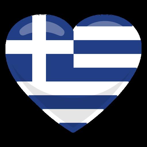 Bandera del corazon de grecia Transparent PNG
