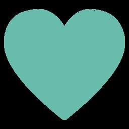 Elemento hippie de coração verde