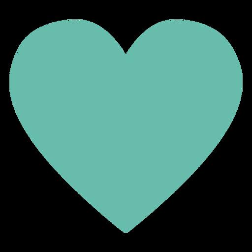 Elemento hippie corazón verde