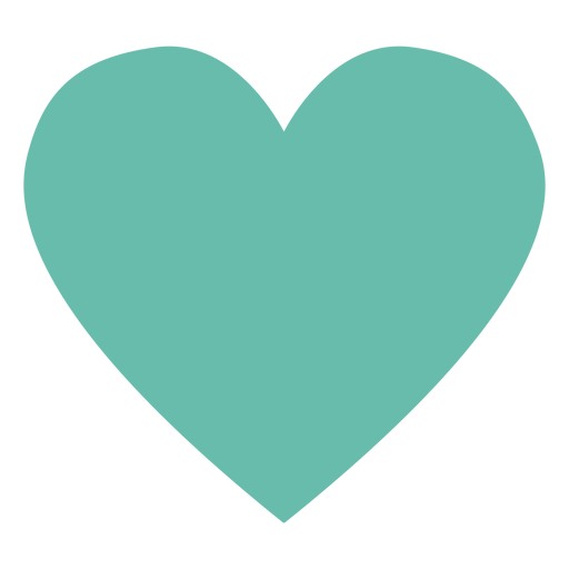 Green heart hippie element Transparent PNG