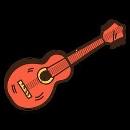 Doodle de hippie de guitarra