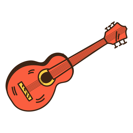 Guitar hippie doodle