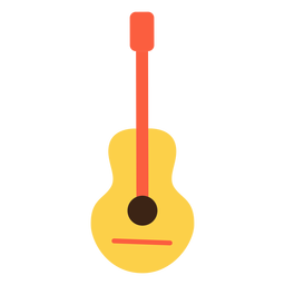 Elemento hippie de guitarra