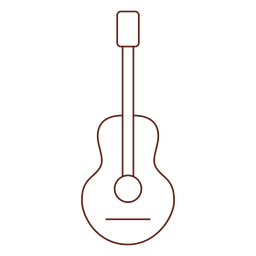 Elemento de guitarra hippie.