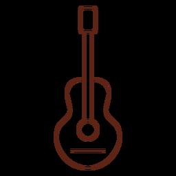 Elemento de traçado de hippie de guitarra
