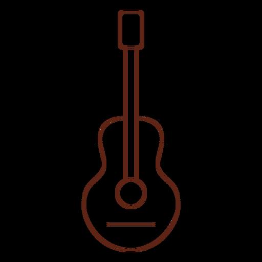 Elemento de traçado de hippie de guitarra Transparent PNG