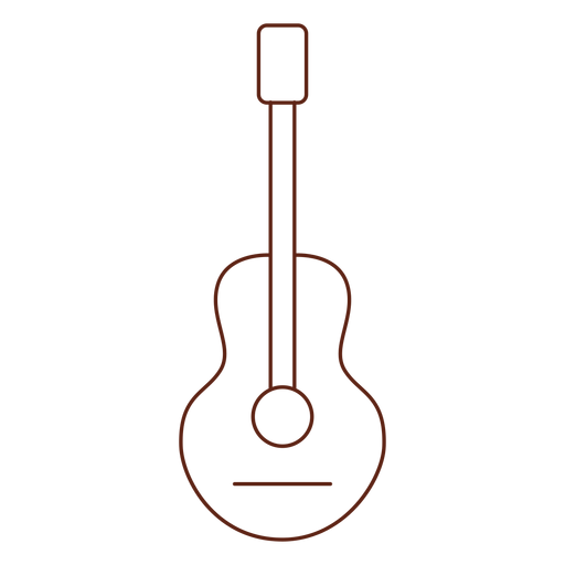 Guitar hippie stroke element Transparent PNG