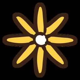 Mão afogar doodle de flor