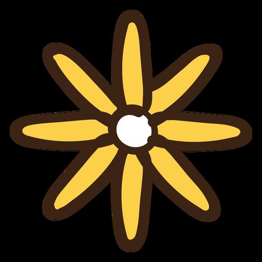Hand drown flower doodle