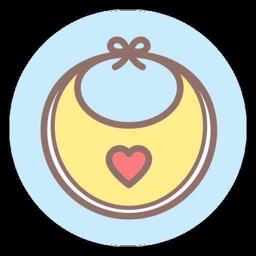 Heart baby bib circle icon Transparent PNG