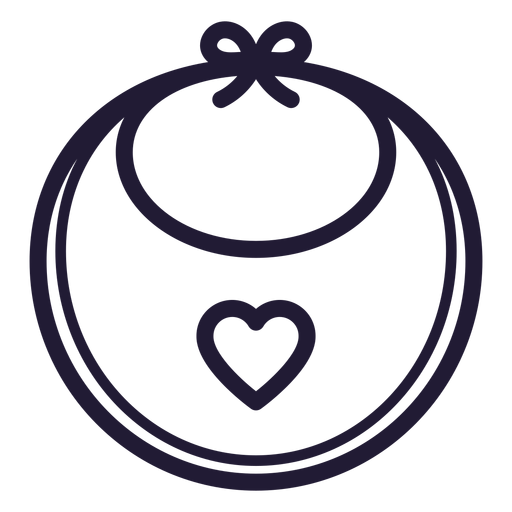 Heart baby bib stroke icon Transparent PNG