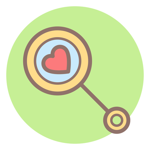 Heart baby rattle circle icon Transparent PNG