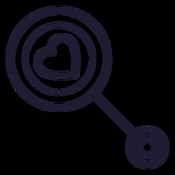 Icono de traqueteo de corazón del bebé del corazón