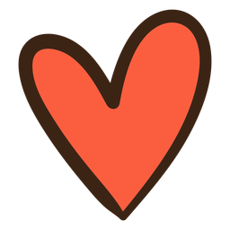 Doodle de hippie de coração