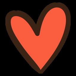 Doodle de hippie de corazón