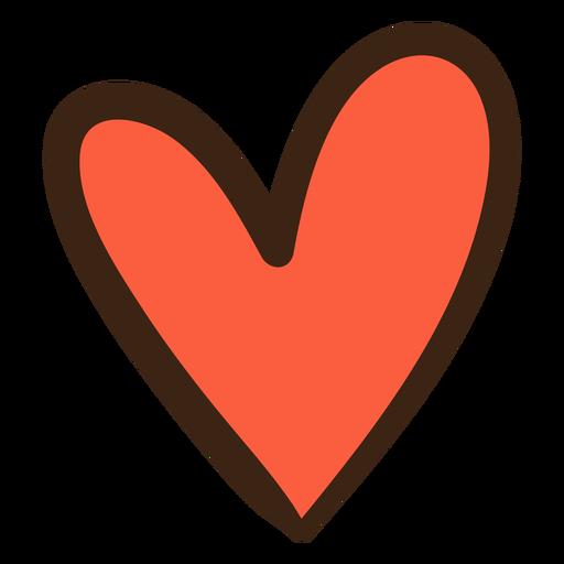 Doodle de hippie de corazón Transparent PNG