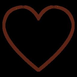 Elemento de traço do coração hippie