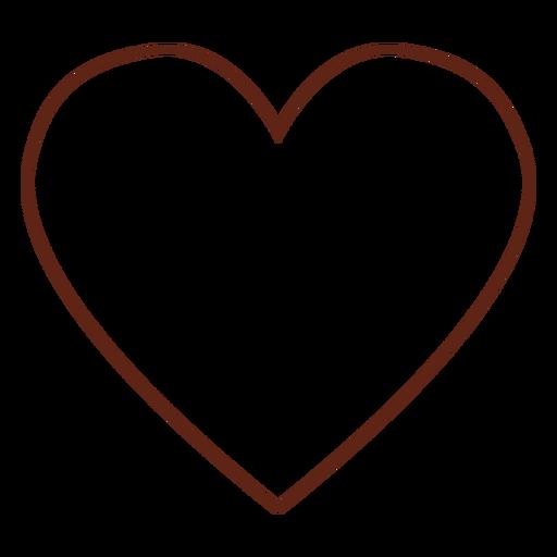 Elemento de corazón hippie trazo Transparent PNG
