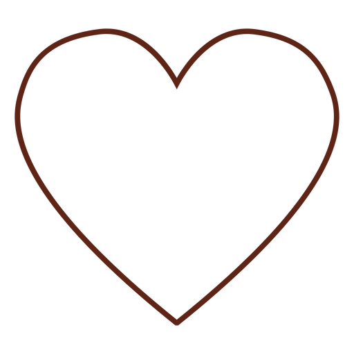 Heart hippie stroke element Transparent PNG
