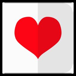 Ícone de cartão de corações