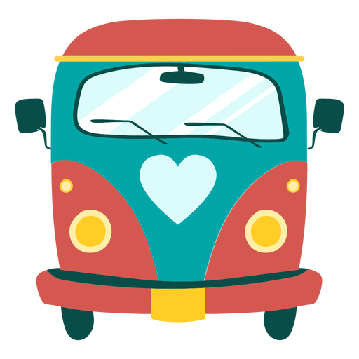 Elemento de ônibus hippie Transparent PNG