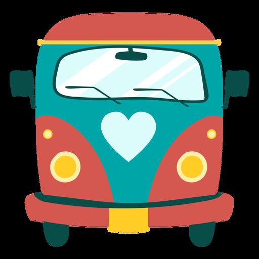 Hippie bus element Transparent PNG