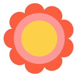 Hippie flower element