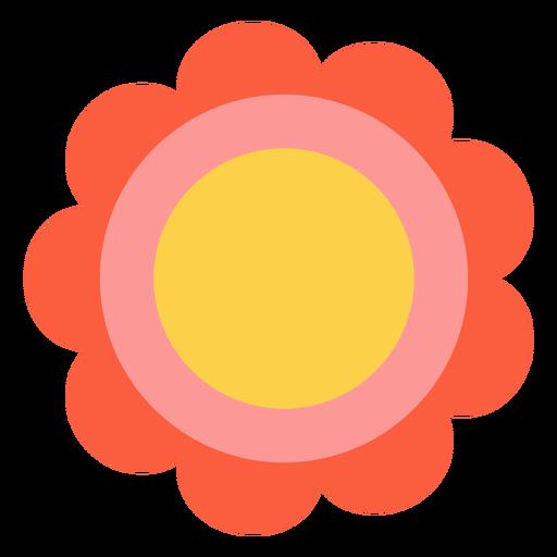 Elemento de flor hippie